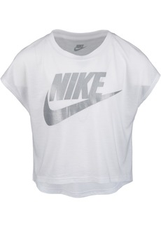 Nike Toddler Girls Futura Shine Logo-Print Cropped T-Shirt