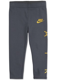 Nike Little Girls Metallic-Logo Leggings