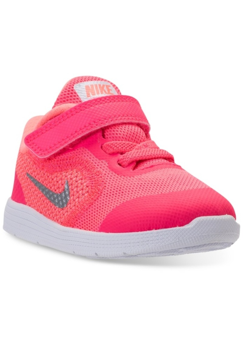 56b6c296d5c84 Nike Toddler Girls  Revolution 3 Stay-Put Closure Running Sneakers from Finish  Line