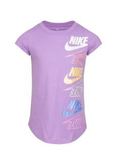 Nike Little Girls Short Sleeve Repeat Logo Graphic T-shirt
