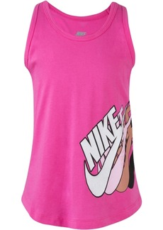 Nike Little Girls Stacked Futura Logo Graphic Cotton Tank Top