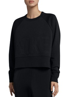 Nike Versa Embossed Cropped Training Sweatshirt