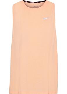 Nike Woman Tailwind Perforated Dri-fit Stretch-jersey Tank Peach