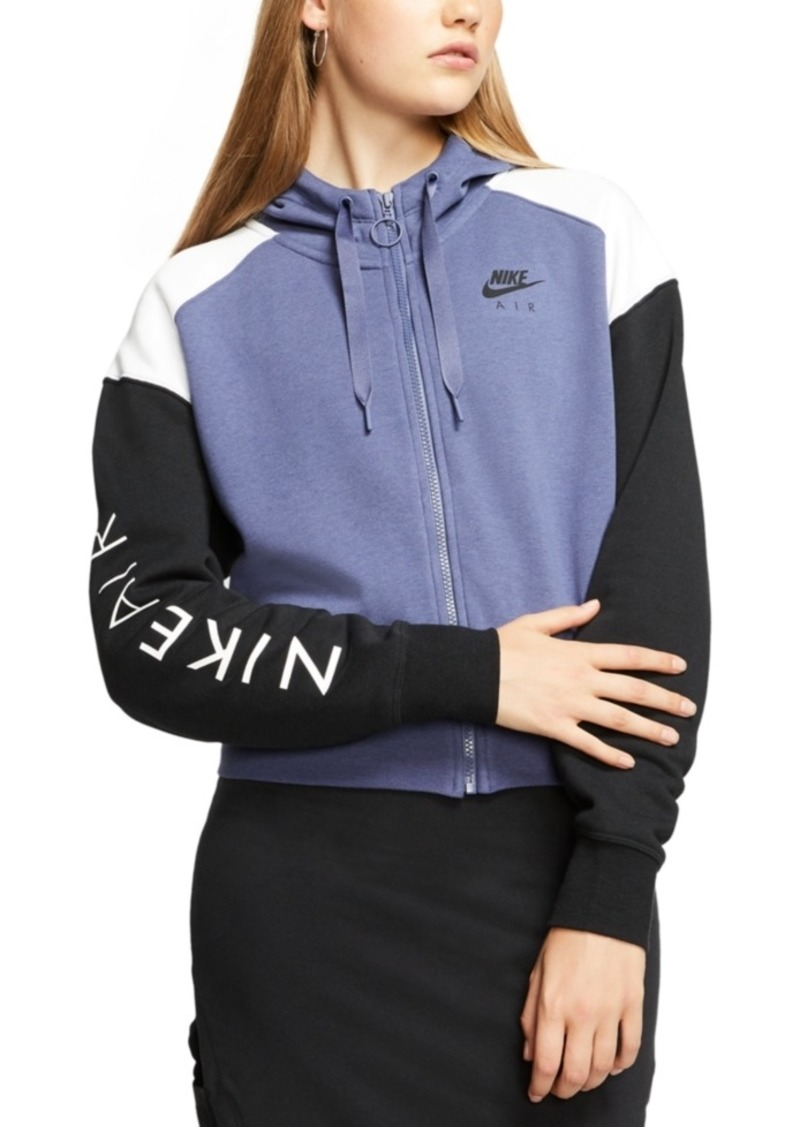 Nike Women's Air Colorblocked Zip Fleece Hoodie