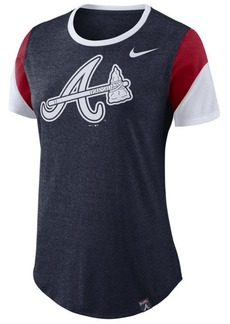 Nike Women's Atlanta Braves Tri-Blend Crew T-Shirt