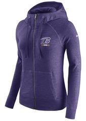 Nike Women's Baltimore Ravens Gym Vintage Full-Zip Hoodie
