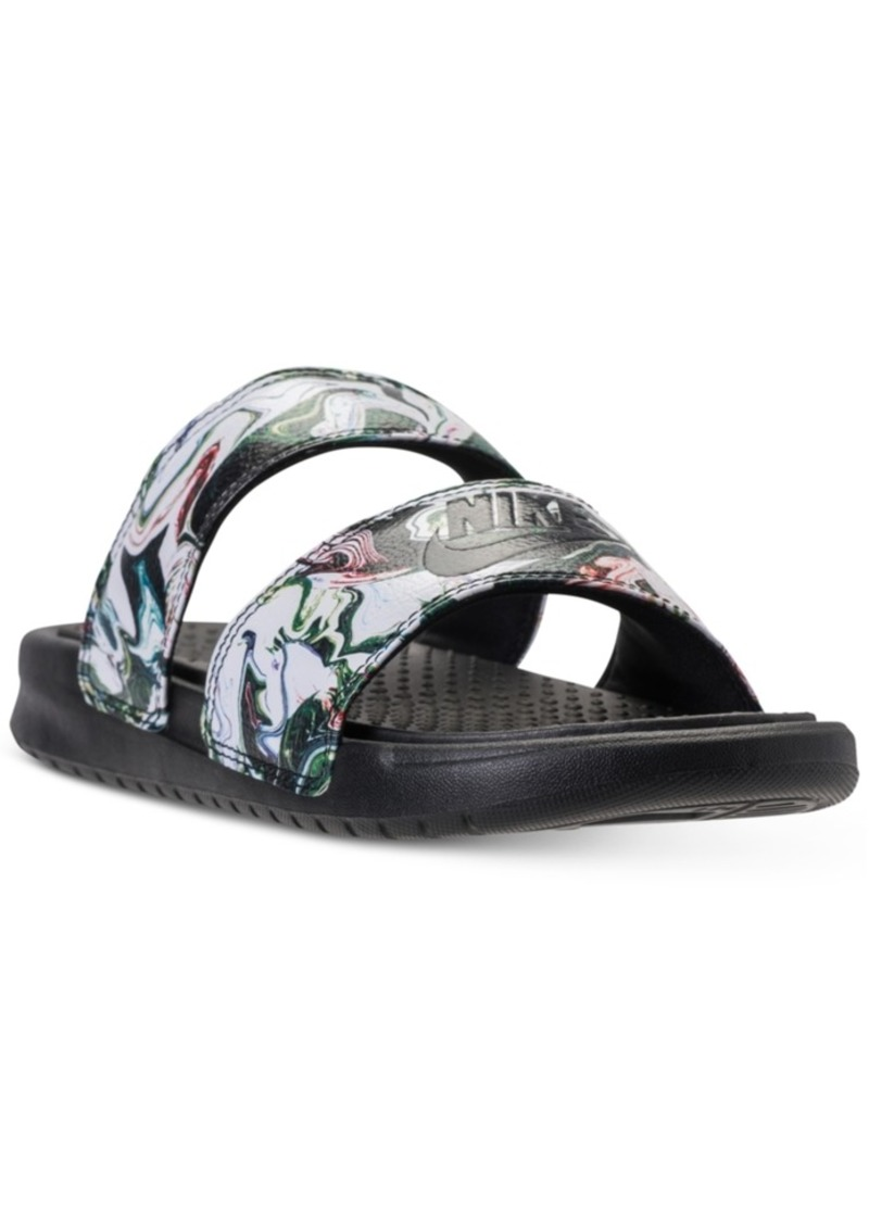 the best attitude 1d938 98389 Women's Benassi Duo Ultra Slide Sandals from Finish Line