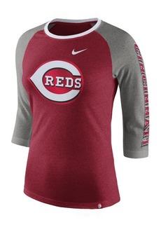 Nike Women's Cincinnati Reds Tri-Blend Raglan T-Shirt