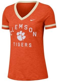 Nike Women's Clemson Tigers Slub Fan V-Neck T-Shirt