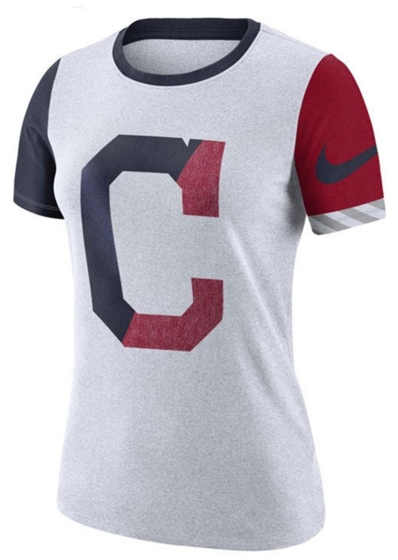 Nike Women's Cleveland Indians Slub Logo Crew T-Shirt
