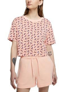 Nike Women's Cotton Printed Cropped T-Shirt