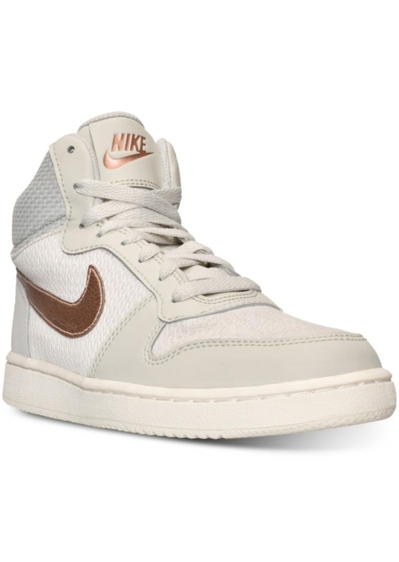 38e30edb4965 Nike Women s Court Borough Mid Premium Casual Sneakers from Finish Line