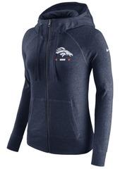 Nike Women's Denver Broncos Gym Vintage Full-Zip Hoodie