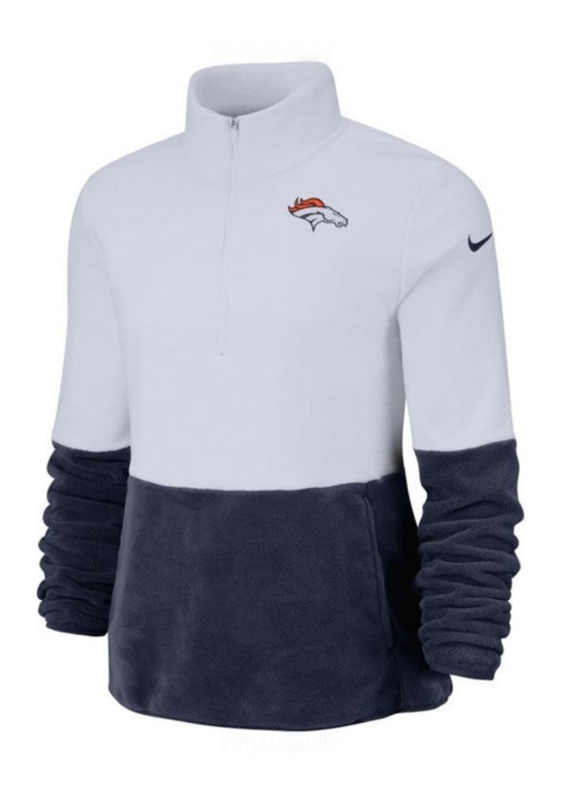 Nike Women's Denver Broncos Half-Zip Therma Fleece Pullover