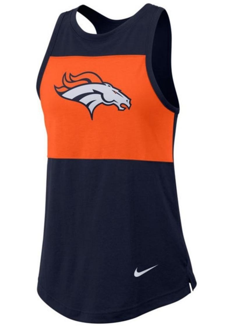 Nike Women's Denver Broncos Racerback Colorblock Tank