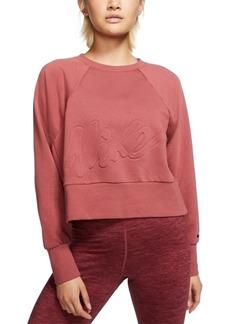 Nike Women's Dri-fit Fleece Cropped Training Top