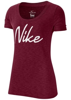 Nike Women's Dri-fit Script-Logo Training T-Shirt