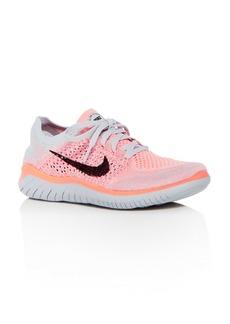 Nike Women's Free RN Flyknit 2018 Lace Up Sneakers