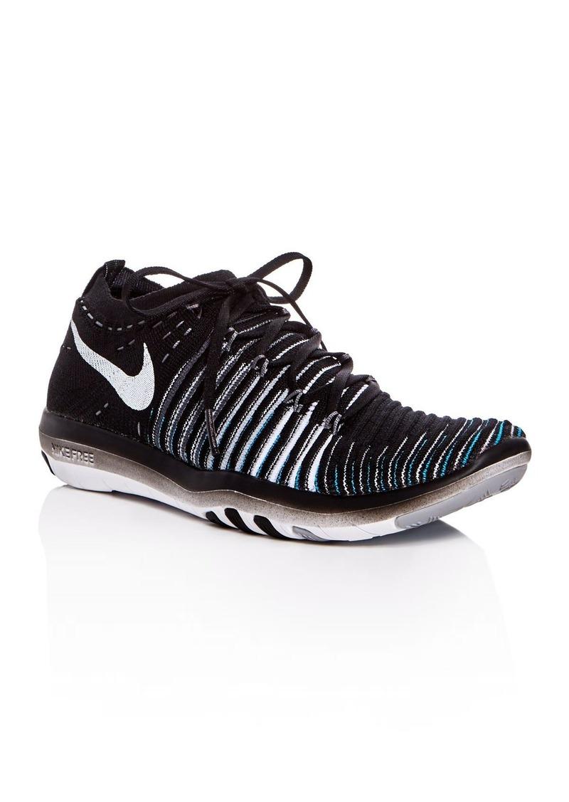 76a2585e79b6 Nike Nike Women s Free Transform Flyknit Lace Up Sneakers