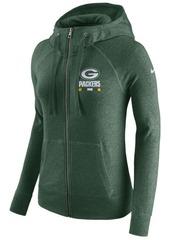 Nike Women's Green Bay Packers Gym Vintage Full-Zip Hoodie