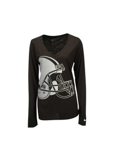 Nike Women's Long-Sleeve Cleveland Browns Logo Wrap T-Shirt