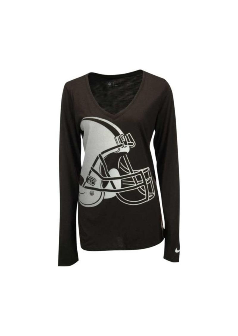 6530718d Women's Long-Sleeve Cleveland Browns Logo Wrap T-Shirt