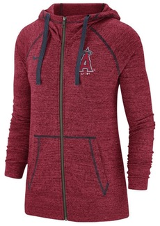 Nike Women's Los Angeles Angels Gym Vintage Full-Zip Hooded Sweatshirt