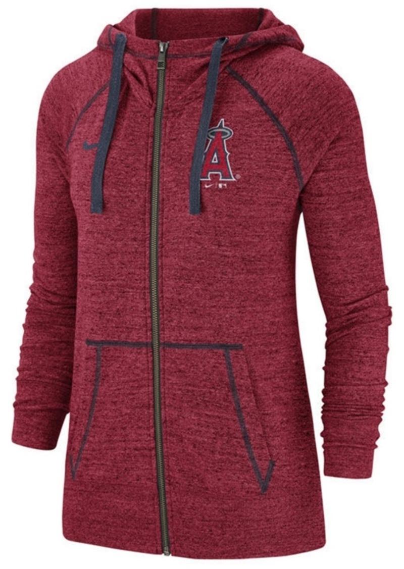Nike Women's Los Angeles Angels Gym Vintage Full-Zip Hooded Sweatshirt