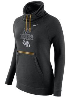 Nike Women's Lsu Tigers Funnel Neck Hoodie
