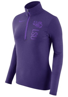 Nike Women's Lsu Tigers Stadium Element Quarter-Zip Pullover