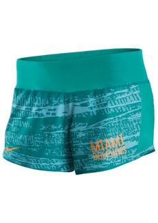 Nike Women's Miami Dolphins Printed Crew Shorts
