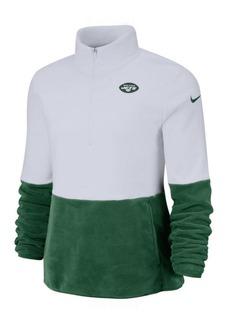 Nike Women's New York Jets Half-Zip Therma Fleece Pullover