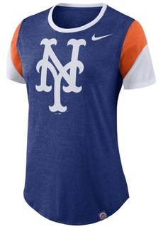 Nike Women's New York Mets Tri-Blend Crew T-Shirt