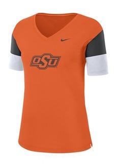 Nike Women's Oklahoma State Cowboys Breathe V-Neck T-Shirt
