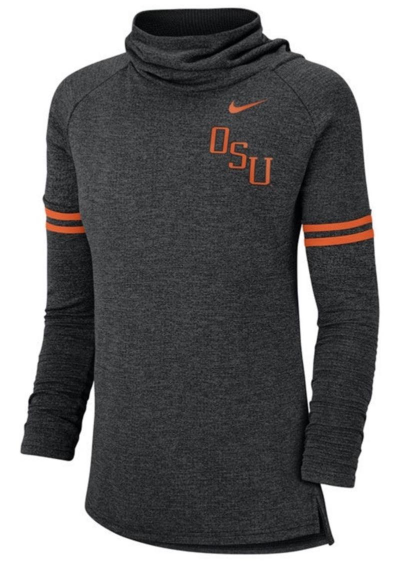 Nike Women's Oklahoma State Cowboys Funnel Neck Long Sleeve T-Shirt