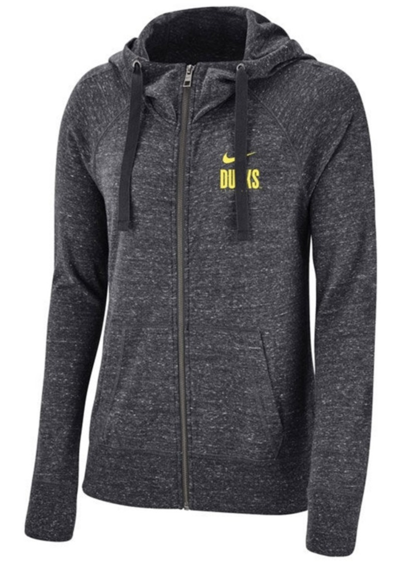 Nike Women's Oregon Ducks Gym Vintage Full-Zip Hoodie