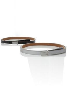 Nike Women's Sleek Modern Two-For-One Skinny Belts
