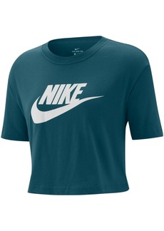 Nike Women's Sportswear Cotton Logo Cropped T-Shirt