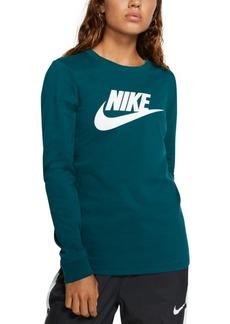 Nike Women's Sportswear Essential Cotton Logo Top