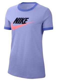Nike Women's Sportswear Futura Cotton Ringer T-Shirt