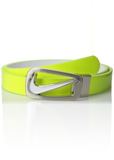 Nike Women's Swoosh Cutout Skinny Reversible Belt