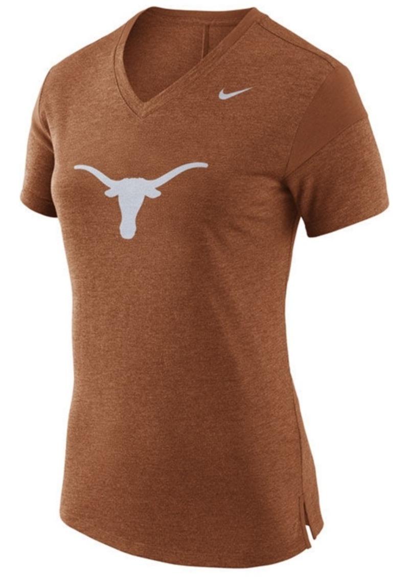 new arrival dd484 59367 Nike Women s Texas Longhorns Fan V Top T-Shirt