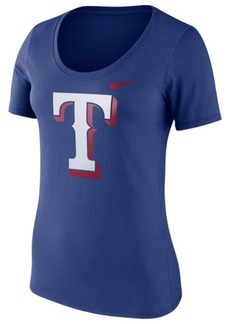 Nike Women's Texas Rangers Cotton Scoop T-Shirt