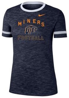 Nike Women's Utep Miners Slub Fan Ringer T-Shirt