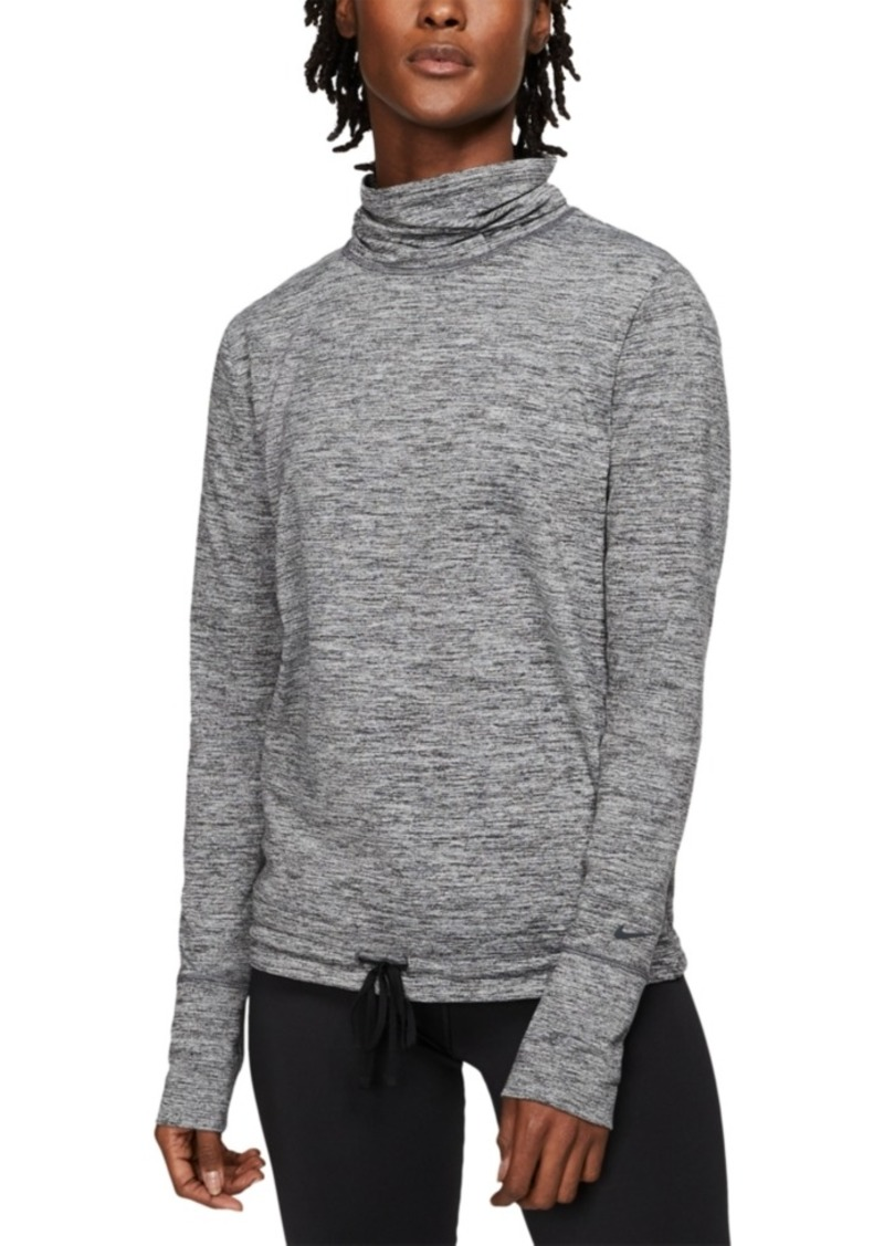 Nike Women's Yoga Funnel-Neck Dri-fit Top