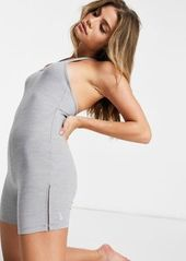 Nike Yoga luxe halter unitard in gray