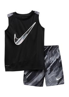 Nike NKB Dominate Muscle Shorts Set (Toddler Boys)