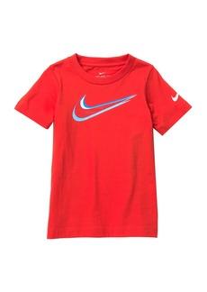 Nike NKB Swoosh Back Hit T-Shirt (Little Boys)