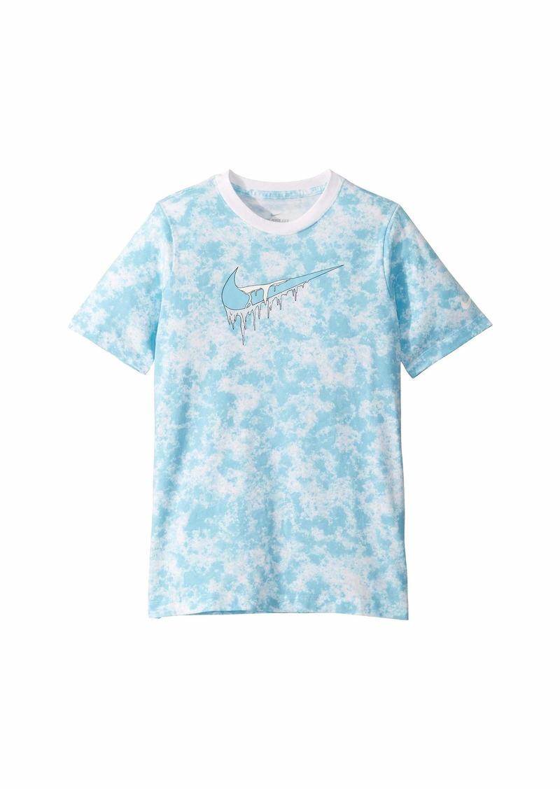 Nike NSW All Over Print Ice T-Shirt (Big Kids)