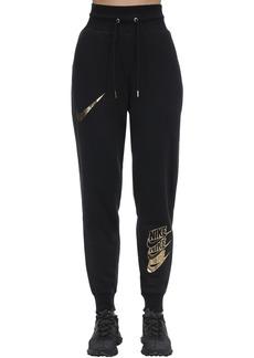 Nike Nsw Bb Shine Metallic Logo Sweatpants
